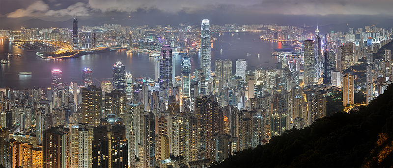 Hong Kong Skyline (source: Wikipedia)