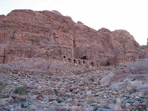 Tombs carved into the rocks