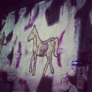 Horse Lights White NIght