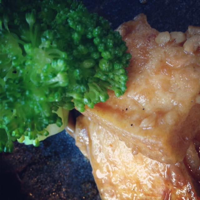Tofu with Broccoli and Mushroom