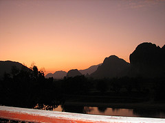 View from Hotel in Vang Vieng