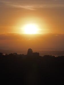 Sunrise from Temple IV, Tikal